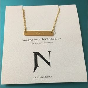 """Love"" Pendant Necklace"